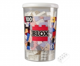 Blox 100 white Bricks in Box