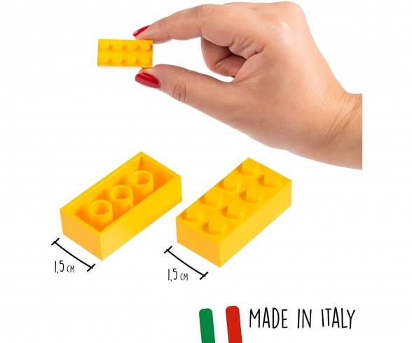 Blox 500 yellow 8 pin Bricks Loose