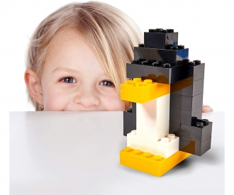 Blox - 500 8er Bausteine gelb - kompatibel mit bekannten Spielsteinen