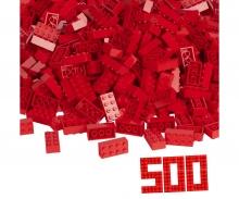 Blox - 500 8er Bausteine rot - kompatibel mit bekannten Spielsteinen