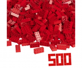 Blox 500 red 8 pin Bricks loose