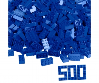 Blox 500 blue 8 pin Bricks loose