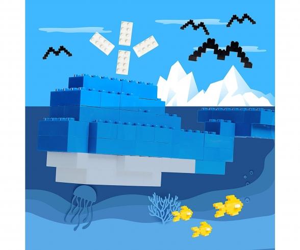 Blox 500 blue 8 pin Bricks Loose