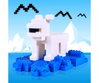 Blox - 500 8er Bausteine blau - kompatibel mit bekannten Spielsteinen