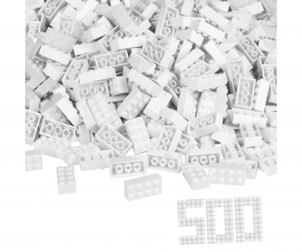 Blox 500 white 8 pin Bricks loose
