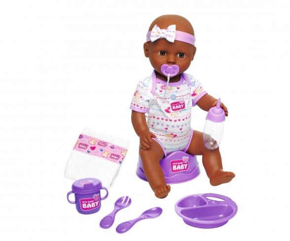 New Born Baby Babypuppe, Violettes Zubehör