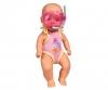 New Born Baby Badepuppe