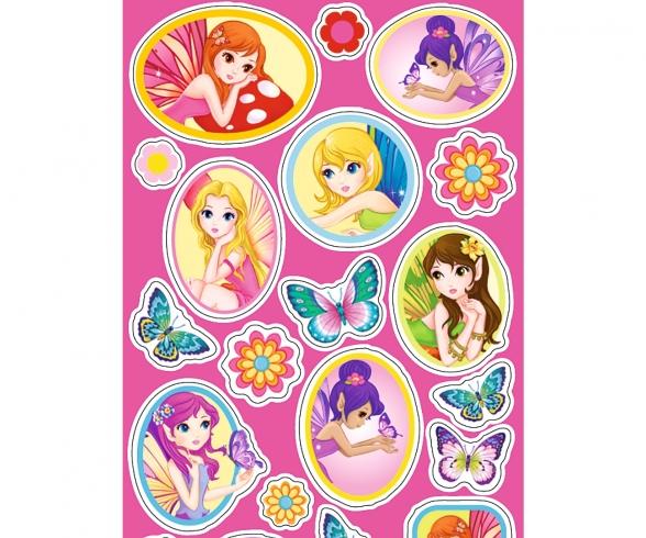 A&F 1.000 Girls Sticker