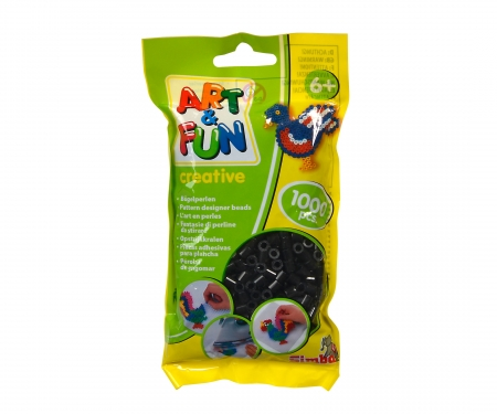 Art & Fun 1.000 Ironing Beads in Bag black