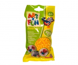 Art & Fun 1.000 Ironing Beads in Bag yellow