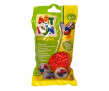 Art & Fun 1.000 Ironing Beads in Bag red