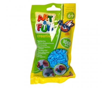 Art & Fun 1.000 Ironing Beads in Bag blue