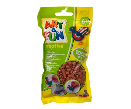 Art & Fun 1.000 Ironing Beads in Bag brown