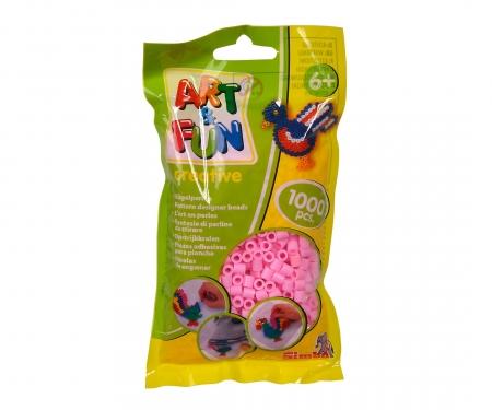 Art & Fun 1.000 Ironing Beads in Bag pink