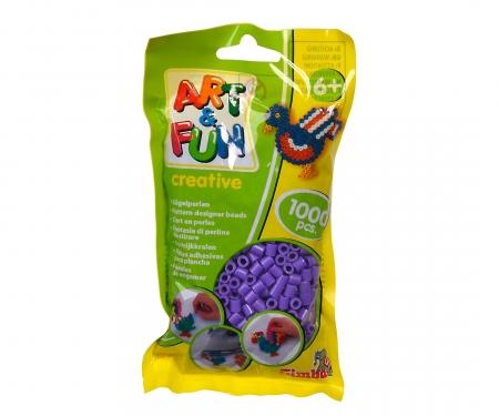 Art & Fun 1.000 Bügelperlen im Beutel lila