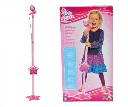 My Music World Girls Microphone Stand