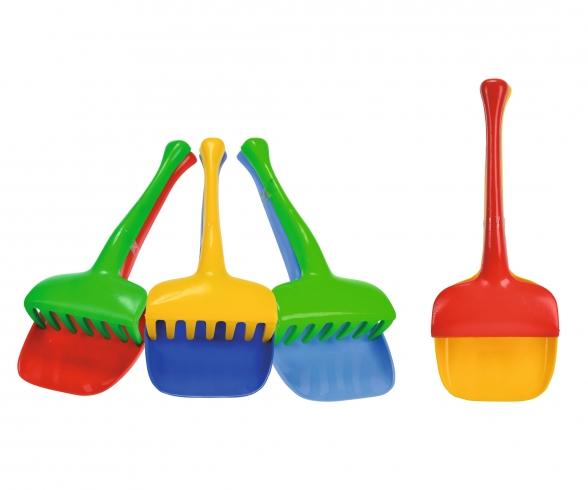 Shovel and Rake Set, 4-ass.