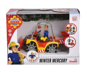 Sam Mercury-Schnee- Quad mit Figur
