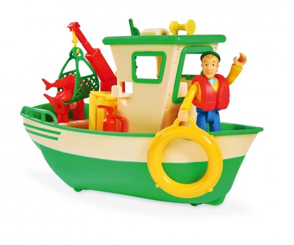 Sam Charlies Fishing Boat and Figurine