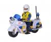 Sam Polizei Motorrad mit Figur