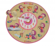 Masha and the Bear teaching clock