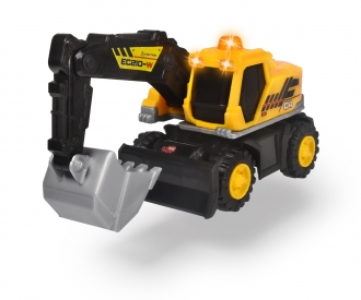 Excavator with light and sound