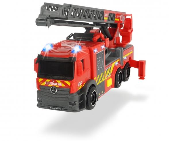 Camion de pompiers avec échelle tournante