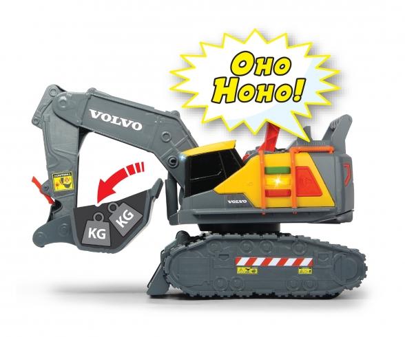 Volvo Bagger mit Gewichtserkennung