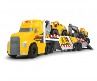 Großer Mack Truck mit 2 Volvo Fahrzeugen