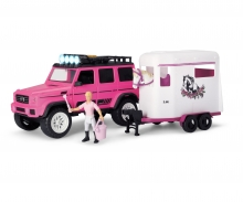 Playlife-Horse Trailer Set pink