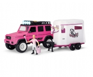 Playlife-Horse Trailer Set pink