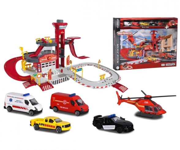 Creatix Feuerwehrstation + 5 Autos