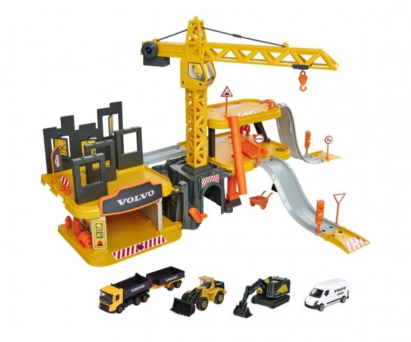 Creatix Construction Spielset + 5 Volvo Baufahrzeuge
