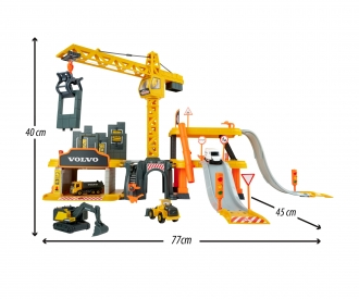 Creatix Construction Playset + 5 Volvo vehicles