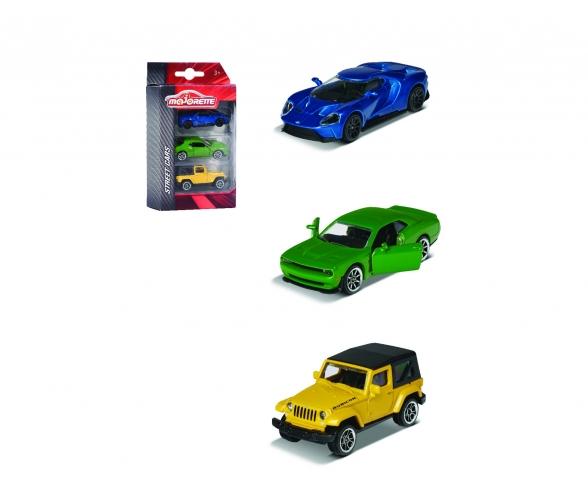 Street Cars 3 Pieces Set, 1-sort.