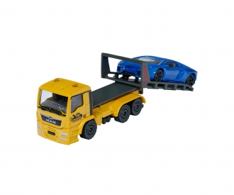 MAN TGS Tow Truck with Ford GT purple