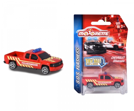 Majorette SOS Flasher Chevrolet Silverado Fire Engine