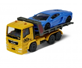 Majorette City Small Set MAN TGA Tow Truck with Porsche