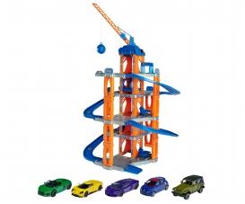 Motor Lift Center + 5 Cars