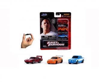 Fast & Furious 3-Pack Nanofiguren