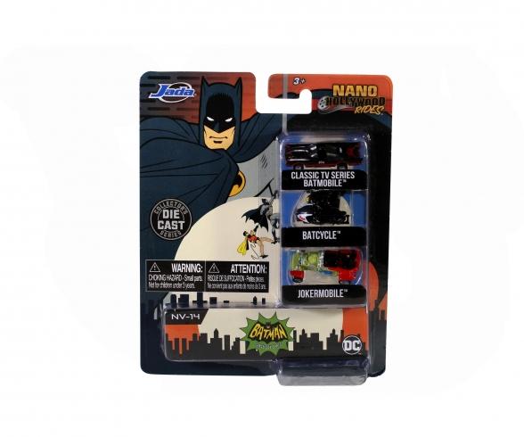 Batman 3-Pack Nano Autos