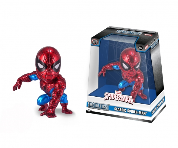 "Marvel 4"" Classic Spider-Man Metallfigur"