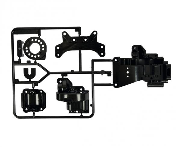 TA-01/TA-02 B-Parts Gearbox rear Black