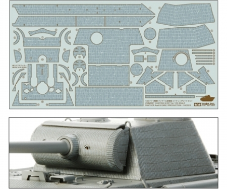1:35 WWII Zimmerit Bogen Panther G Early