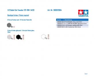 1:12 Gabel-Set Yamaha YZF-R1M  14133