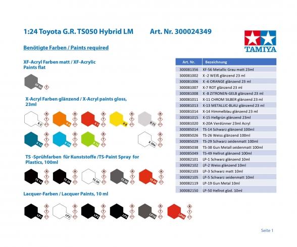 1:24 Toyota G.R. TS050 HYBRID