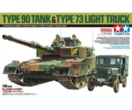 1:35 JGDF KPz Typ 90  m. Typ 73 Fhzg.
