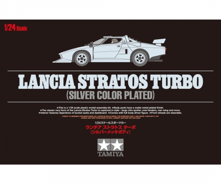 1:24 Lancia Stratos Turbo Silver plat.
