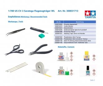 1:700 US CV-3 Saratoga Aircraft Carr. WL