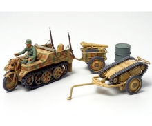 1:48 WWII Dt. Kettenkrad m.Goliath